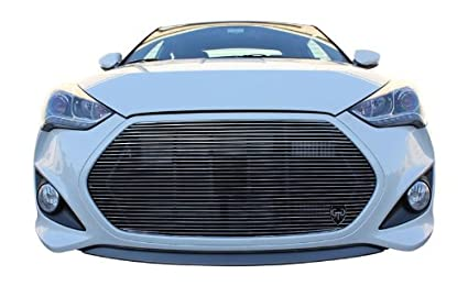 GTG 2013 - 2016 Hyundai Veloster Turbo 1PC Chrome Polished Replacement Billet Grille Kit