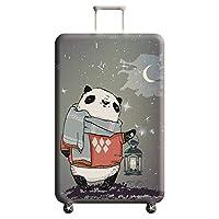 Cupcinu Creative Panda Printing Luggage Case Protector Rainproof Elastic Suitcase Cover Protector Travel Anti-dust Luggage Cover Fits 22-24 Inch (Panda)