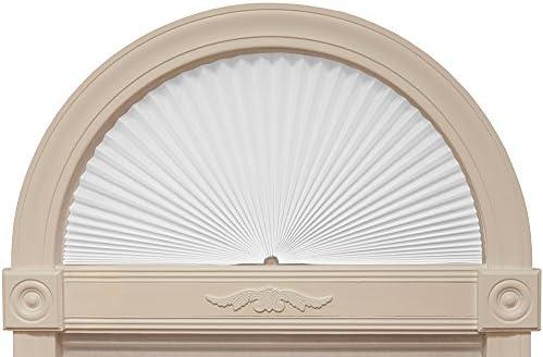 Original Arch Light Filtering Fabric Shade, White, 72 x 36