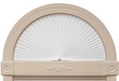 "Original Arch Light Filtering Fabric Shade, White, 72"" x 36"" -"