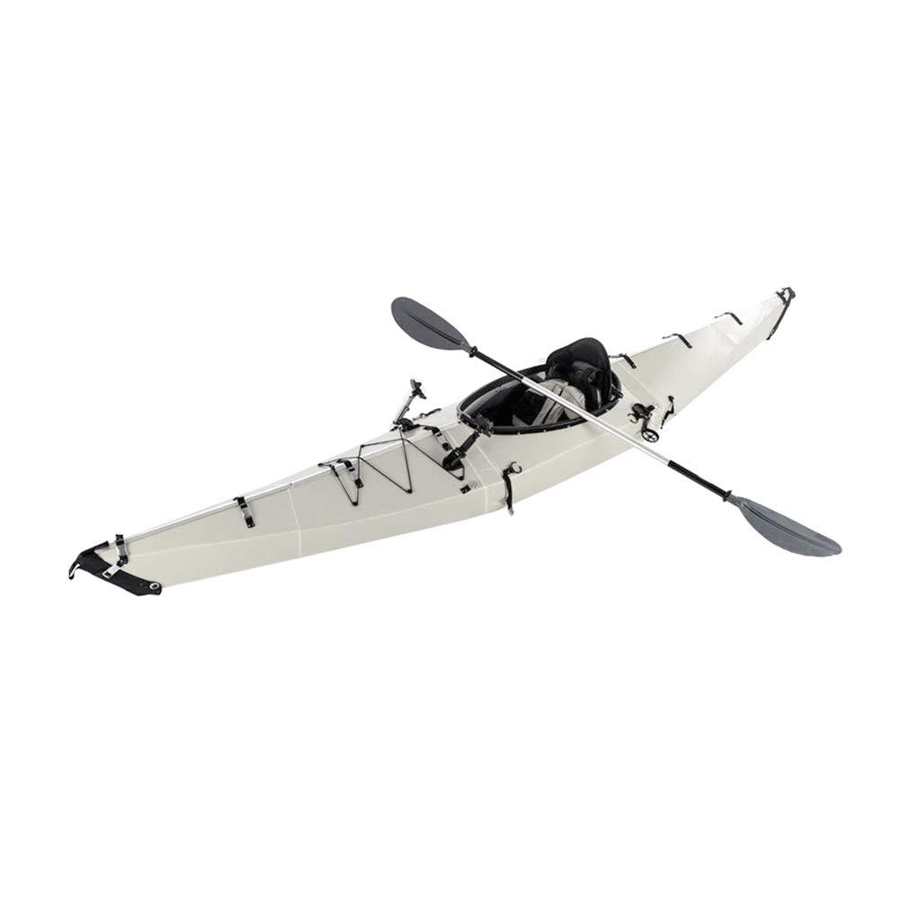 ポータブル 折りたたみ式 カヤック 耐食性 耐衝撃性 シングルボート カヌー パドル付き ハードウェア 居心地の良い シート アサルトボート ドリフトボート   B07QLTFFNL