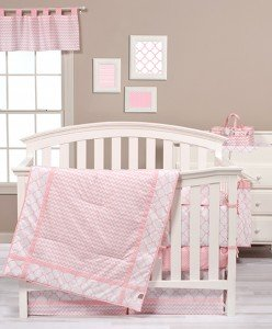(Trend Lab Pink Sky Delicate 3-PC Crib Bedding Set)