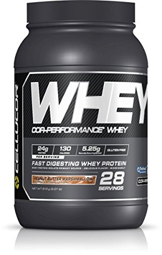 Cellucor Cor Performance Whey Protein Powder, Whey Protein Isolate, BCAA, Peanut Butter Marshmallow, 28 Servings