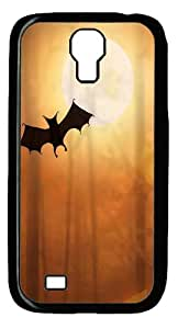 Bat and Moon PC Case Cover For Samsung Galaxy S4 And Samsung Galaxy I9500 Black