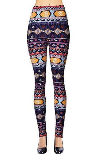 (VIV Collection Regular Size Printed Brushed Leggings (Patterned)