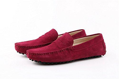 mocassino scamosciata caldo uomo Vino confortevole Minitoo Rosso barca rosso da casual in pelle RwqUCdS
