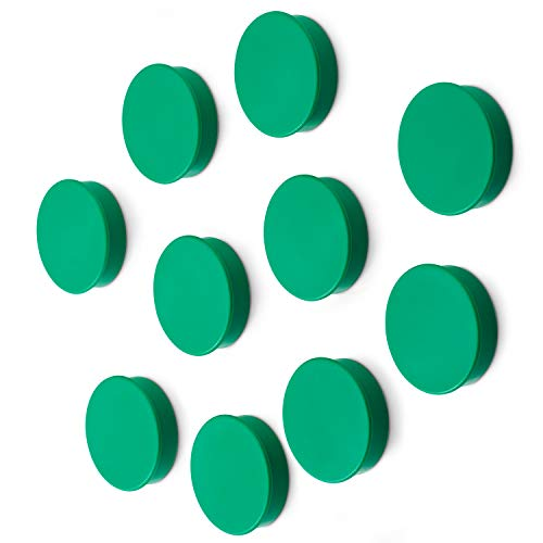 Scribble 1.5 Inch Whiteboard/refrigerator Magnets, Pack of 10 in Green ()