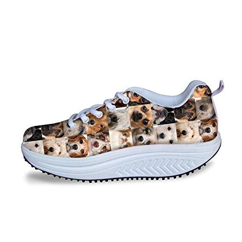 HUGS IDEA Animals Puzzle Printed Women Platform Sneakers Sport Shoes Animals 2 ZEfAxN2Ar