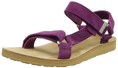 Ouvert Femme W's Universal Original Sandales Bout Dark Violet Purple Suede Teva YCqRBxw1w