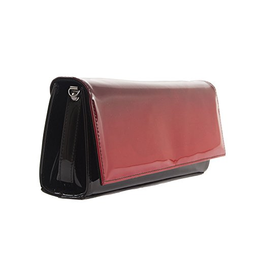 Borsa clutch, Lussi Rossa, in pelle