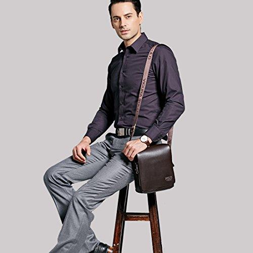 VICUNA POLO PU Leather Men Messenger Bag Cross Body Bag Shoulder Bag For Men (large 11c1508b44