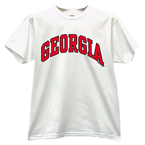 University of Georgia Bulldogs UGA Classic Arch Adult T-Shirt (White, S)