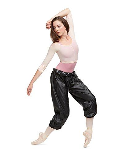 Vinyl Pants (Capezio Womens Perspiration Pants (10848W) -Black -L)