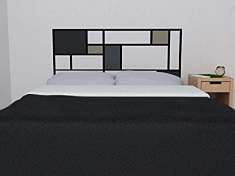 Mondrian Style Vinyl Headboard Decal   De Stijl Style Wall Sticker    Bedroom Wall Decor