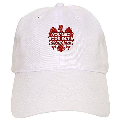 CafePress - You Bet Your Dupa I'm Polish Cap - Baseball Cap with Adjustable Closure, Unique Printed Baseball Hat