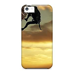 Hot Rock Climber First Grade Tpu Phone Case for iphone 5c Case Cover