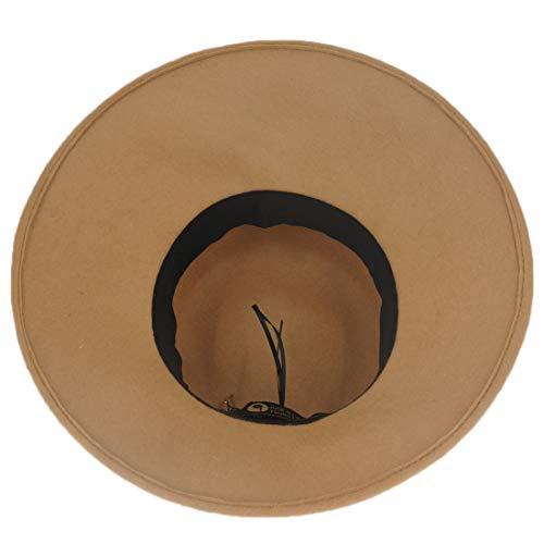 Sombrero De Otoño Lana Mallty E Mujer Color Fieltro Para Invierno Puro Camel 5dEqq4
