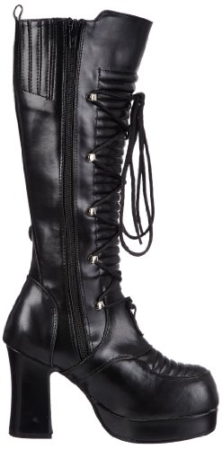 Vegan 200 Stivali blk Nero Leather Donna Demonia Gothika n6pAqFwHa