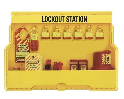 Master Lock Electrical Lockout Station, Includes 6 Steel Padlocks