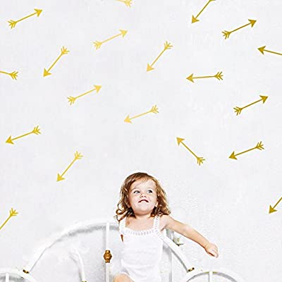 HACASO 48 PCS 0.9 by 4.1 Inches Arrows Wall Decal Sticker For Kids Bedroom Decor -DIY Home Decor Vinyl Arrows Mural Baby Nursery Room Wallpaper