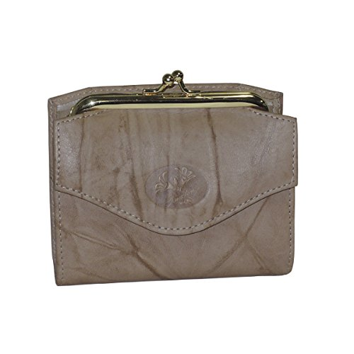 Leather Framed French Wallet - Buxton Heiress French Purse (Ginger Snap (GI))
