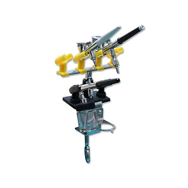 Ebest-Airbrush-Holder-Clamp-on-Style-Station-Stand-Kit-42-Mount-Spray-Gun-Tabletop-Bench-Station-for-Airbrush-360Rotate