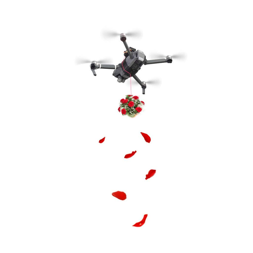 LONGZUYS Mavic Pro Drop Device Kit, Compatible Mavic Pro Upgrade Drone Clip Payload Delivery Drop Transport Device for DJI (Gray) by LONGZUYS (Image #8)