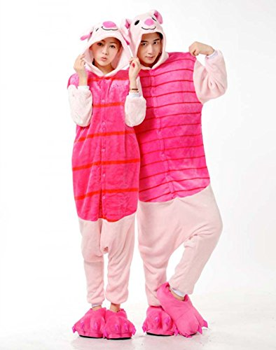 Women Men Piglet Unisex Adult Animal Sleep Suit Cosplay Kigurumi Costume Pajamas Outfit Costume Nightclothes Onesies Clothing Pajamas Tracksuit (Piglet Halloween Costume)
