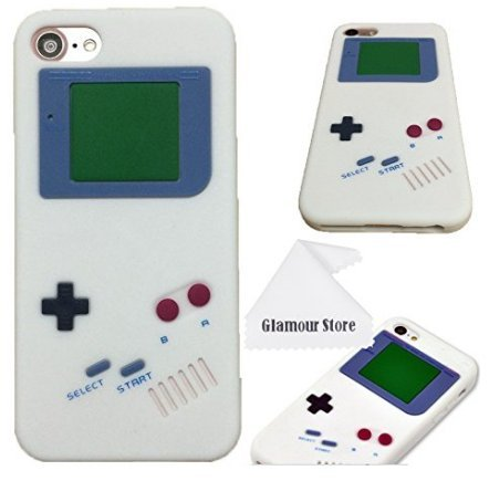 info for 8b908 e82f6 iPhone 7 Case,iPhone 8 Case,Retro 3D Game Boy Gameboy Design Style Soft  Silicone Cover Case For Apple iPhone 7/8 4.7 inch+ Free Cleaning Cloth As a  ...