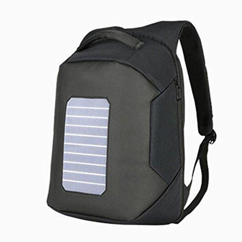 WYXIN Männer Rucksack Solarbetriebene Rucksack Usb Lade Diebstahl 16  Laptop Rucksack für Männer Laptop Bagpack Wasserdichte Taschen Black 7a1Xo7Hh