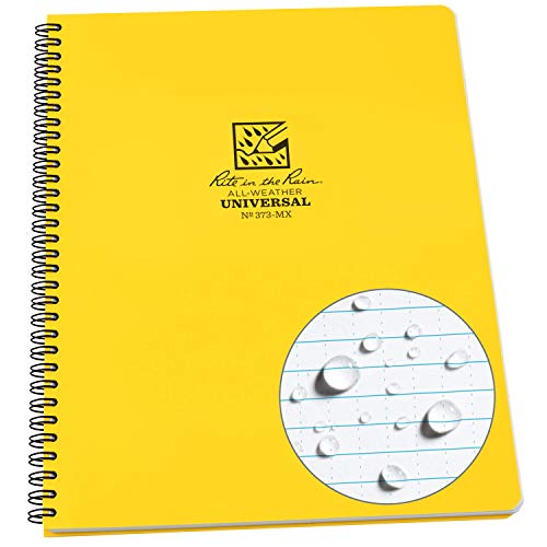 Cuaderno resistente de espiral amarillo Rite In The Rain