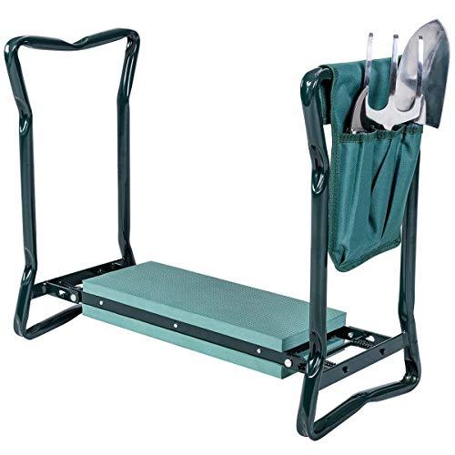 (Super buy Goplus Folding Sturdy Garden Kneeler Gardener Kneeling Pad & Cushion Seat Knee Pad)