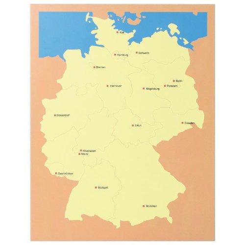 Lernspielzeug Lernmaterial Lernmaterial Lernmaterial Lernspiel Deutschland-Karte nach Montessori fbe713