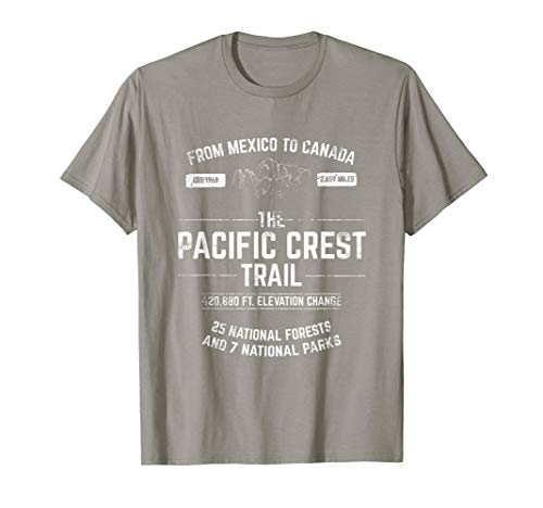 Pacific Crest Trail PCT T SHIRT, in blue, red, or green