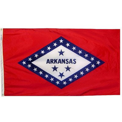 U.S. State Traditional Flag Size: 3' x 5', US State / Territory: Arkansas