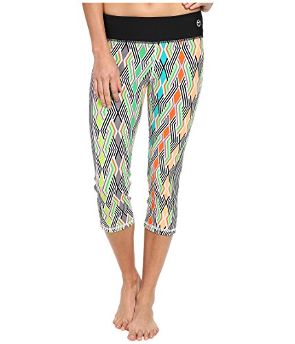 Trina Turk Women's Neon Lights Mid Length Leggings Multi Pants XS (US 0-2) X - U Brooklyn Ave