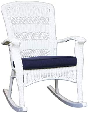 Tortuga Outdoor Portside Plantation Rocking Chair, White Coastal
