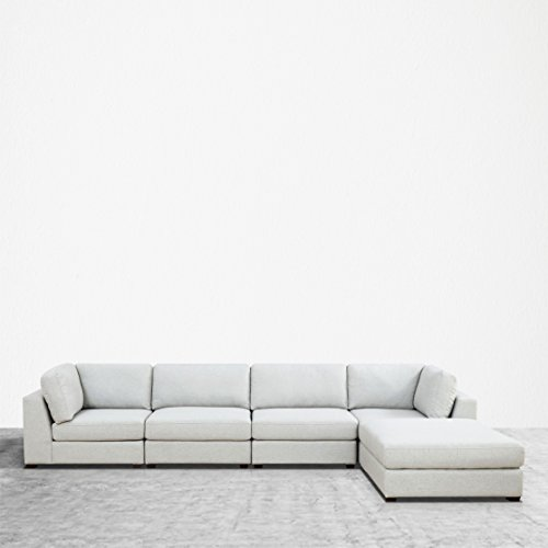 UrbanFurnishing.net Reed 5-Piece Modular Customizable and Reconfigurable Deep Seating Sofa Sectional