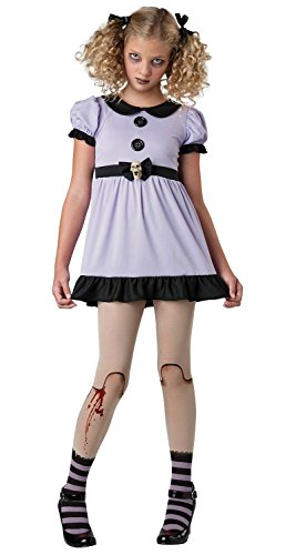 Dead Zombie Costume - Dead Dolly Costume (8-10) -