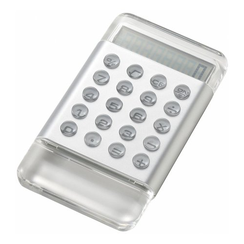 Color Acrylic Calculator Silver LDC011-SY 4190122 (japan import) by Idea International