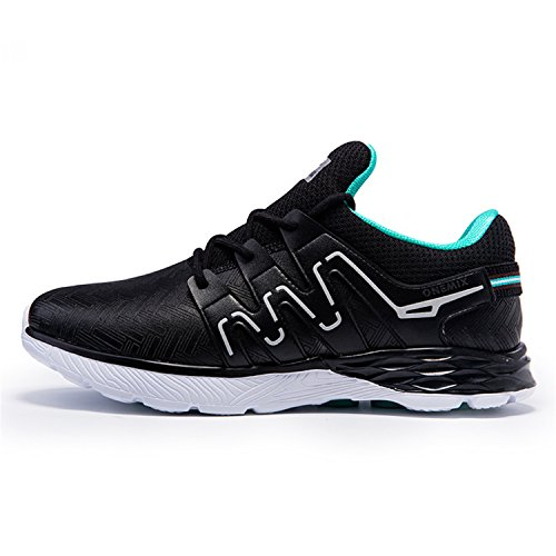 Onemix Mesh Sneakers Zapatos para Correr en Montaña y Asfalto Aire Libre y Deportes Zapatillas de Running Padel para Hombre Sneakers Negro