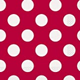 Polka Dot Party Napkins, Red, 16 Count