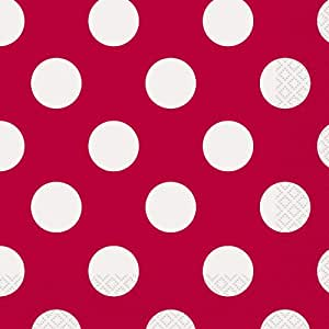 Red Polka Dot Party Napkins, 16ct
