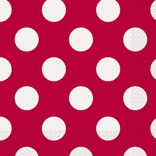 Red Polka Dot Party Napkins, 16ct ()