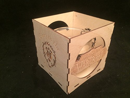 Unfinished-Wooden-Candle-Holder-World-of-Warcraft-glory-to-the-Alliance-candle-holder-engravable-candle-box-WOW-gift-gamers-candle-holder