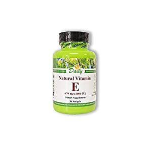 Daily Manufacturing -Natural Vitamin E 1000 IU |50 Capsules