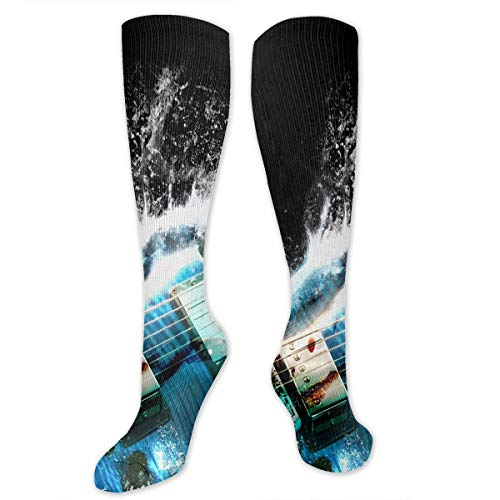 Stretch Socks Guitar Water Art Personalized Winter Warmth for Women & Men Athletic Sports]()