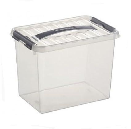 regard détaillé 73c16 64955 Sunware 78400609 Boite plastique 9L avec poignée, Transparent