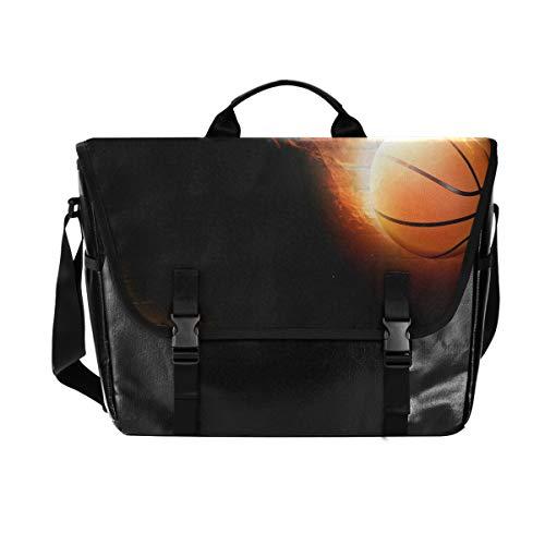 Perfect Basketball Messenger Bag Satchel Shoulder Crossbody Sling Work Bag Briefcase for Men Women