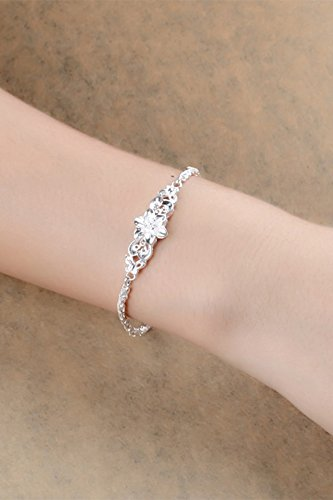 Generic s999 fine silver sterling silver bracelet women girls lady Japanese and Korean Fashion Butterfly silver bracelet Valentine's Day gift to send his girlfriend